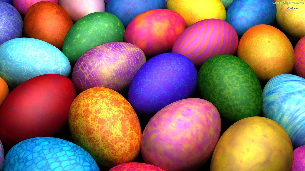 Easter Eggs Picture For Background 1222x687