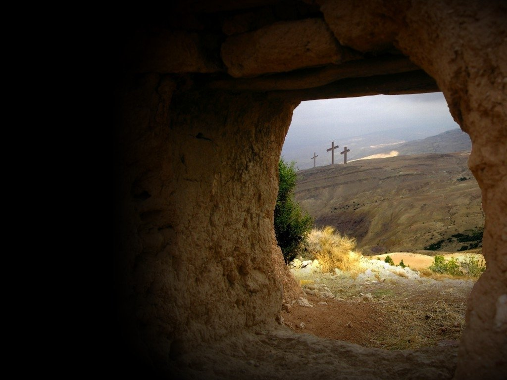 easter day empty tomb easter morning 1024x768