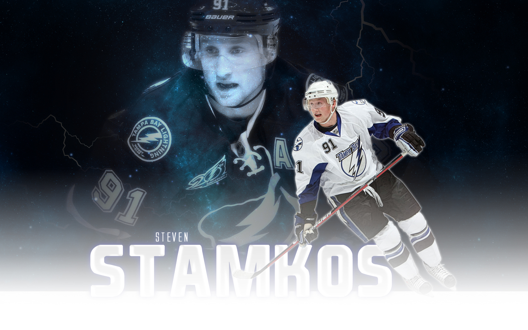 desktop wallpaper featuring Tampa Bay Lightning sniper Steven 1680x1050