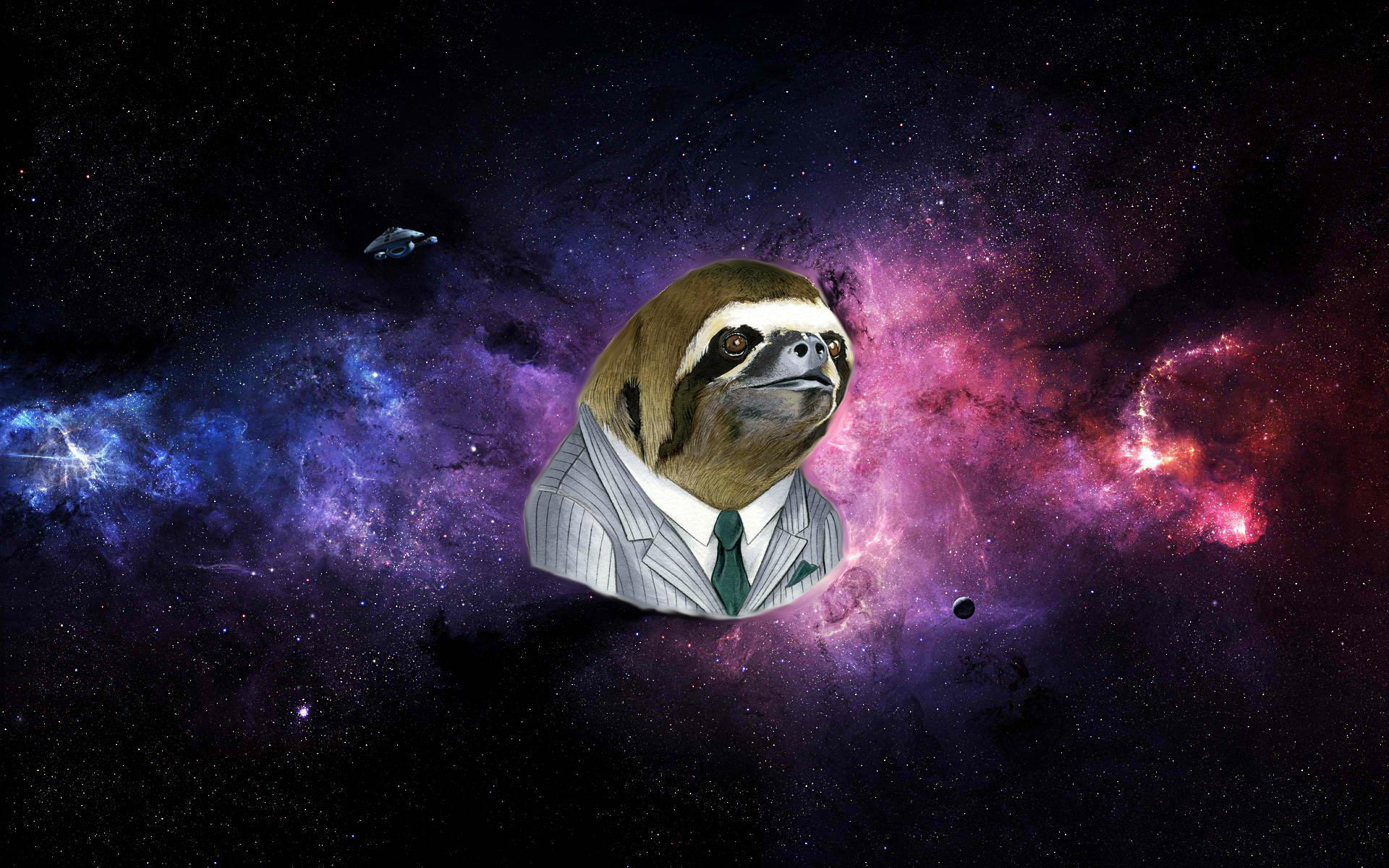 Space Sloth wallpaper made by my 13 year old cousin [1920x1200] 1920x1200
