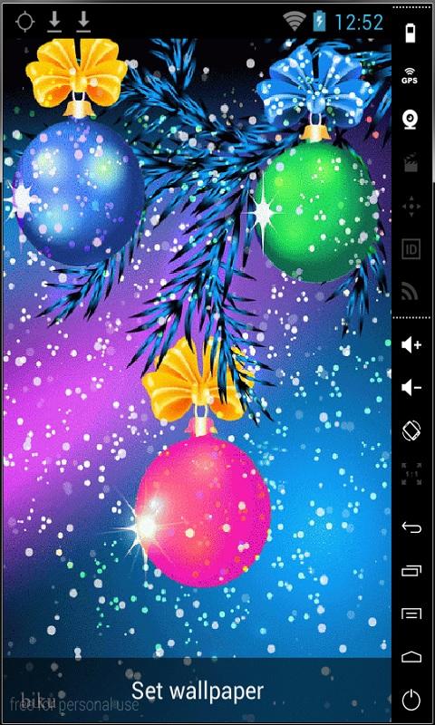 Free Download Download Nice Christmas Balls Live Wallpaper