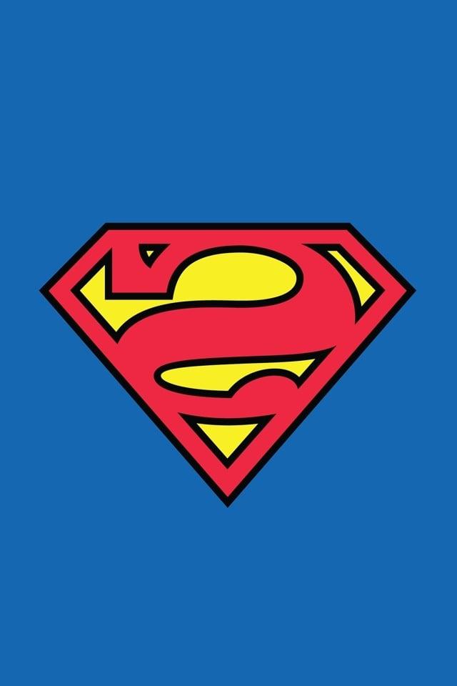 Superman Logo iPhone Wallpaper HD - WallpaperSafari