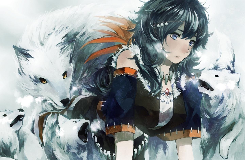 Wolf girl wallpaper wallpapersafari - Wolf girl anime pictures ...