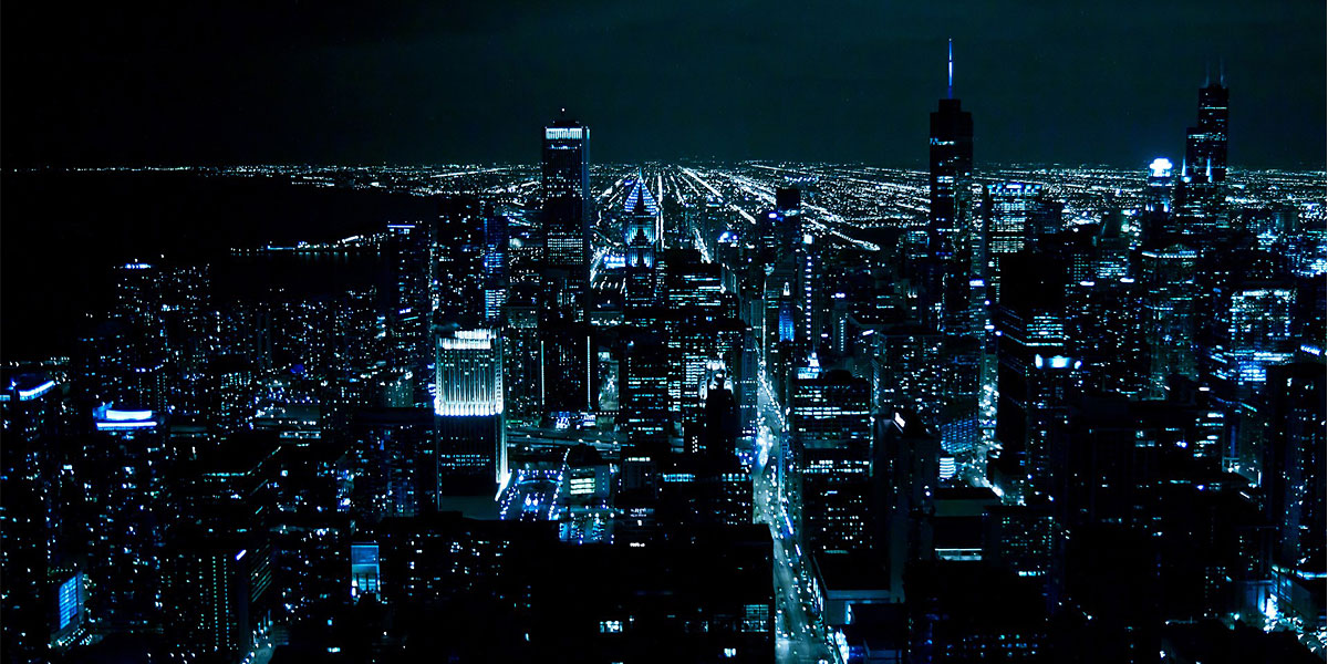 Chicago night lights Twitter Cover Twitter Background TwitrCovers 1200x600