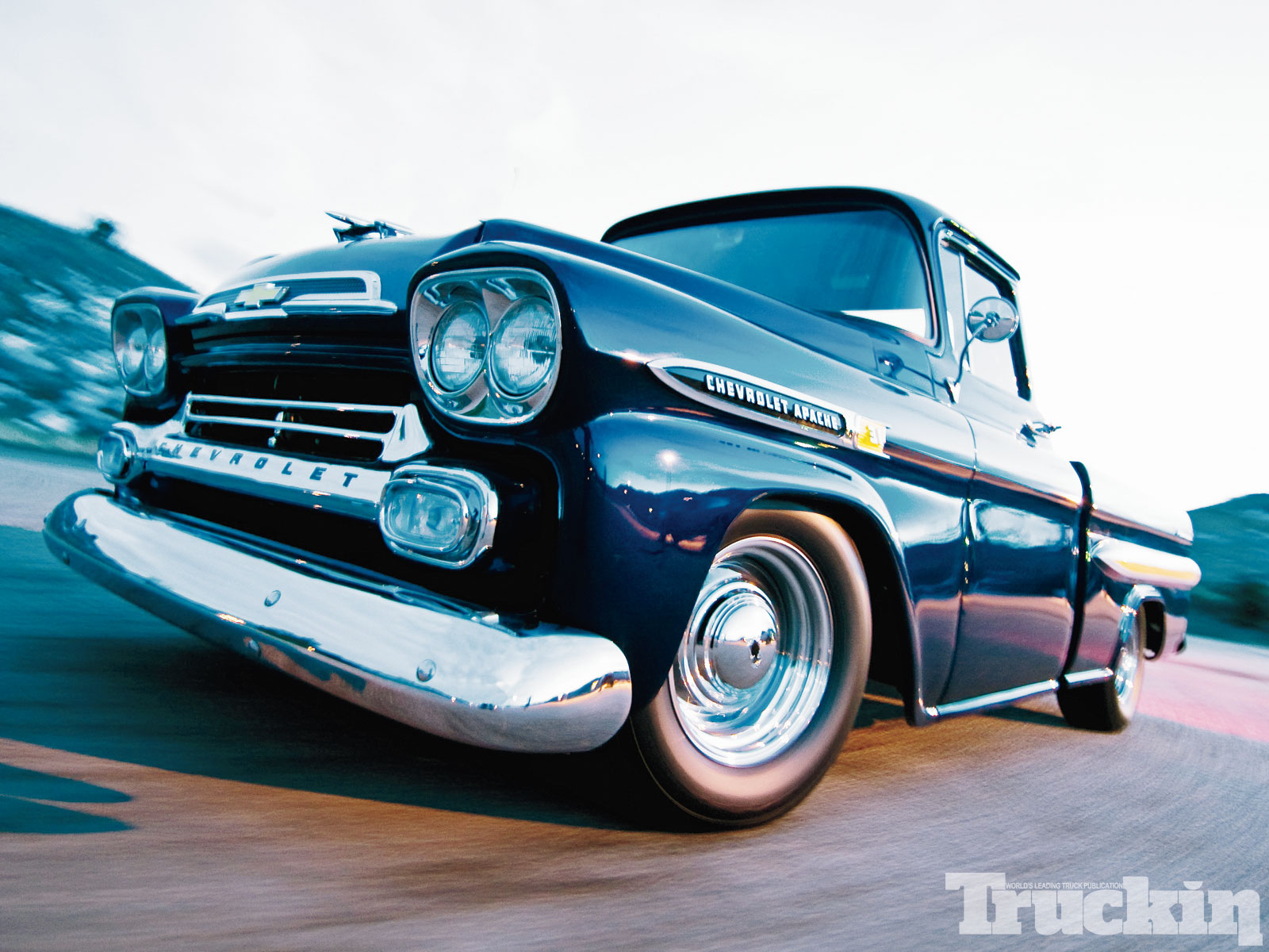 Truckin Desktop Wallpapers Issue 8 1959 Chevy Apache Photo 11 1600x1200