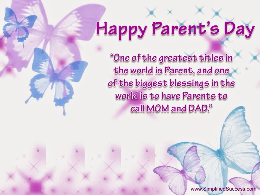 40 Awesome Parents Day Wish Picture And Images 1024x768
