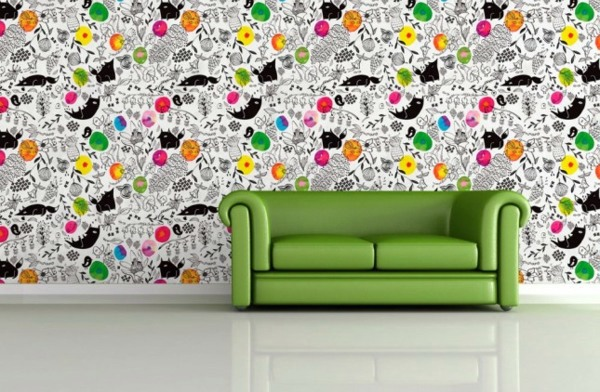 Fancy wallpaper for your chic wall decoration Interior Design Ideas 600x392