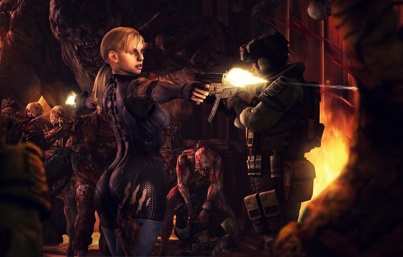 Free Download Wallpaper Girl Monster Infection Resident Evil Jill