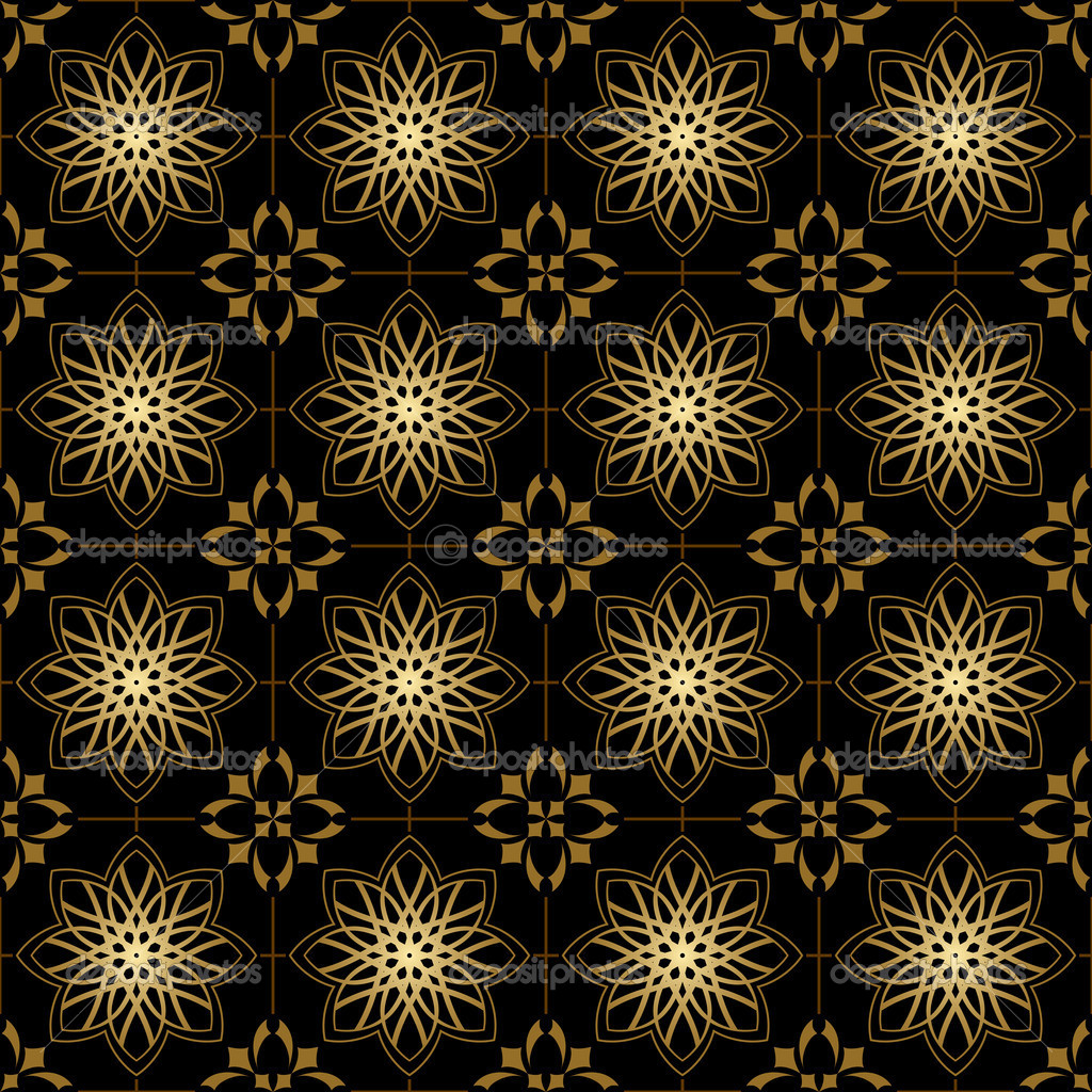 Free Download Gold And Black Geometric Wallpaper Vector