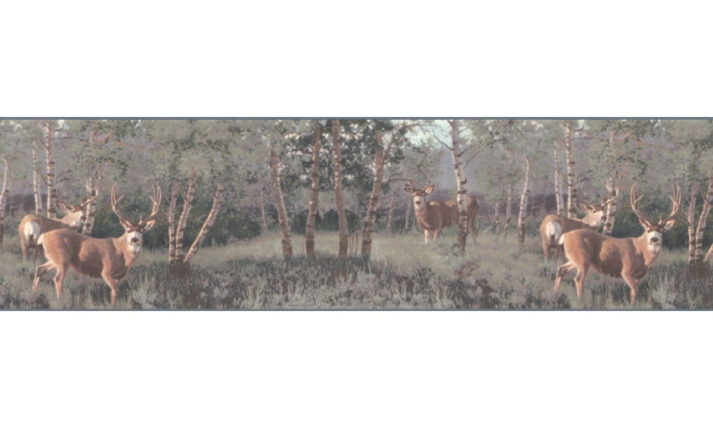 Home Animal Borders Deer Moose Deers Wallpaper Border B2184PG 1000x600