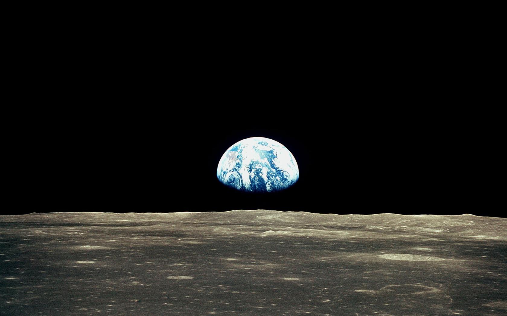 Earthrise from moon wallpaper wallpapersafari - Space moon wallpaper ...