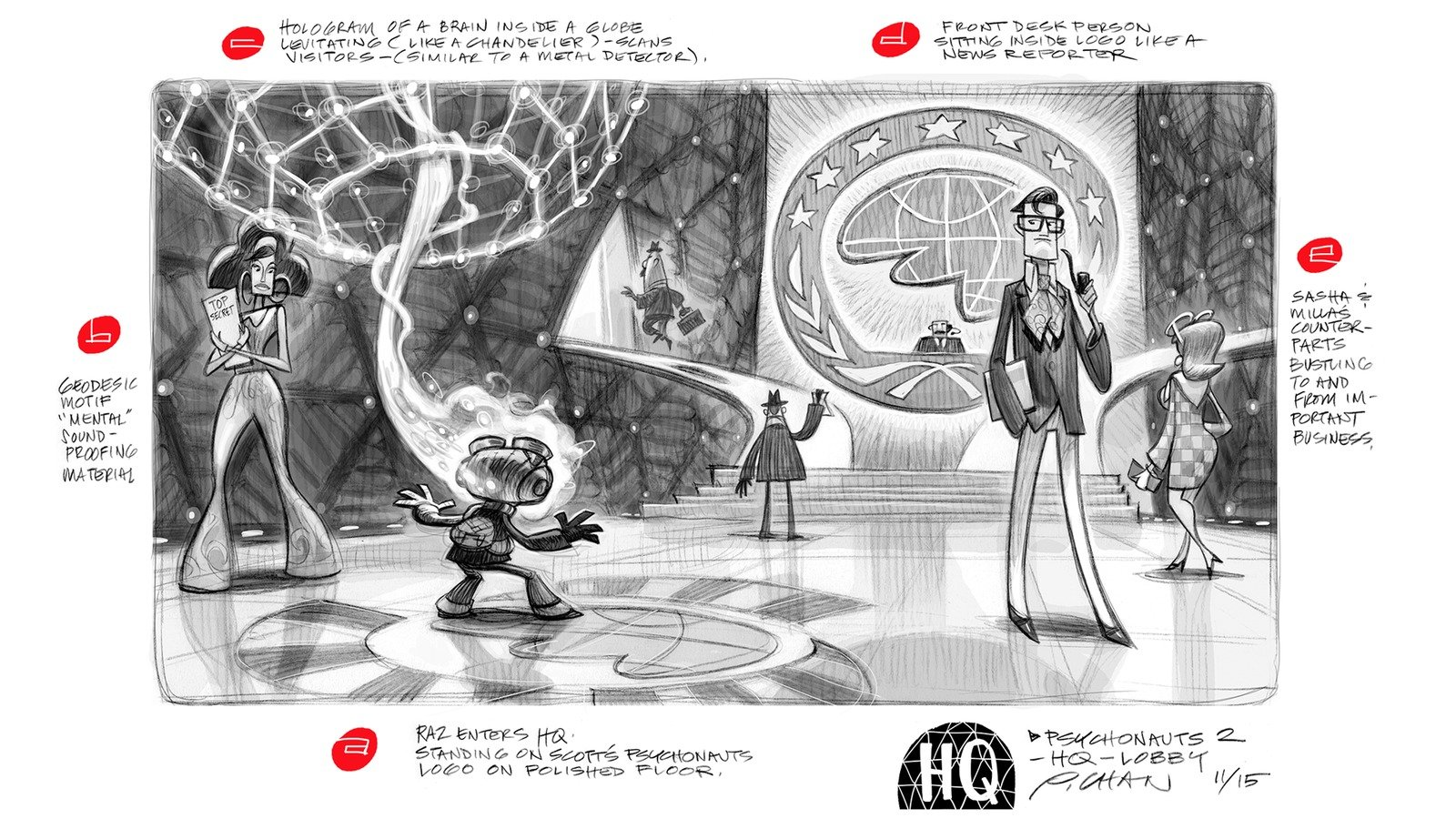 Psychonauts images Psychonauts HQ Concept Art HD wallpaper and 1600x900