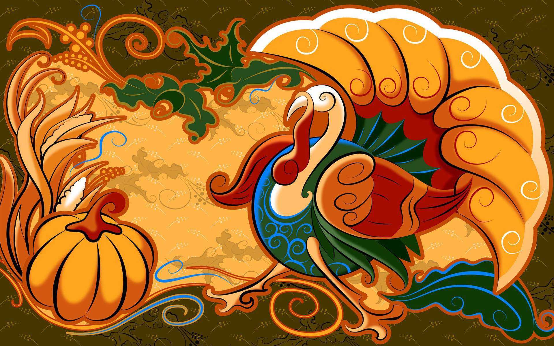 happy thanksgiving turkey images pictures 1920x1200