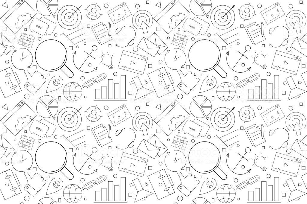 Vector Marketing Pattern Marketing Seamless Background Stock 1024x682