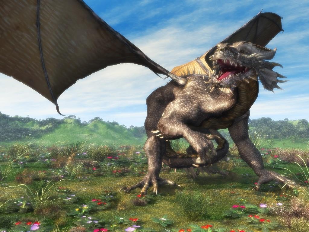 3D dragon wallpaper Megan Fox Buzz 1024x768