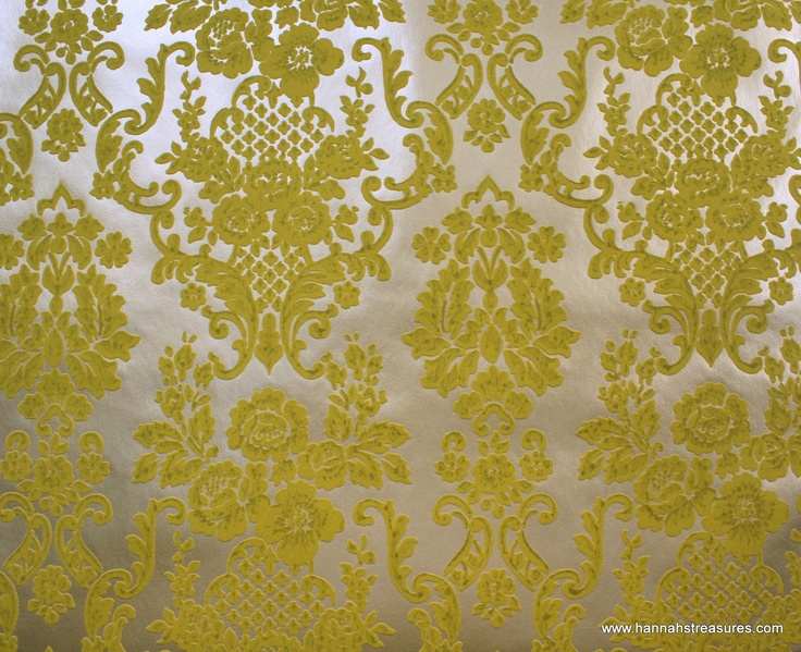 Blue And Yellow Wallpaper Non Woven Wallpaper Triangles: Flocked Wallpaper History