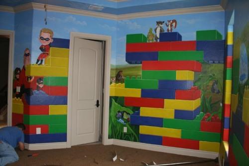 boys lego room ideas tip junkie lego room mural 5 500x333