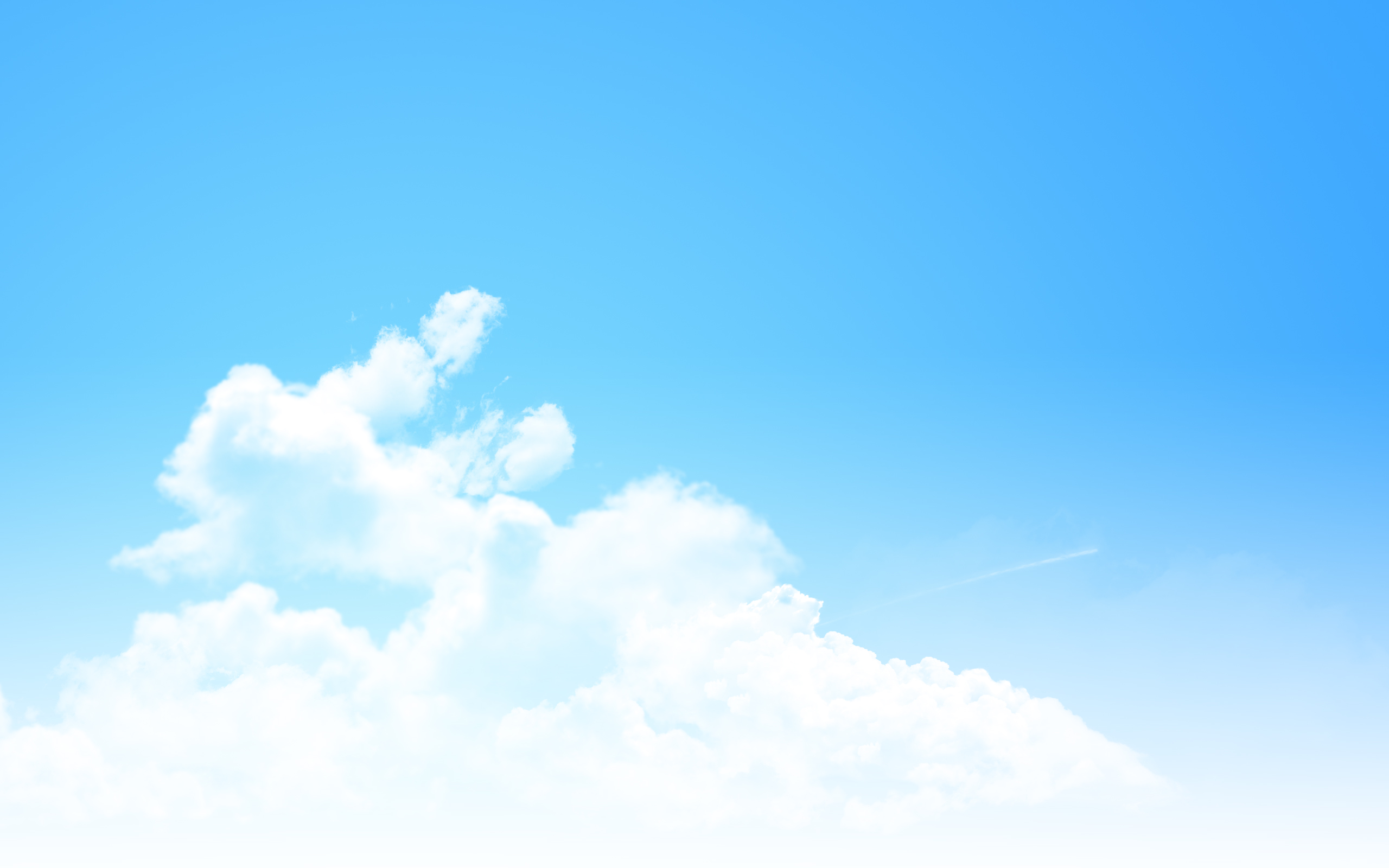 Download Pure Blue Sky Wallpaper Wallpapers 2560x1600