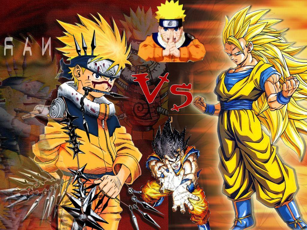 what could happen if there had been a fight between Goku and Naruto 1024x768