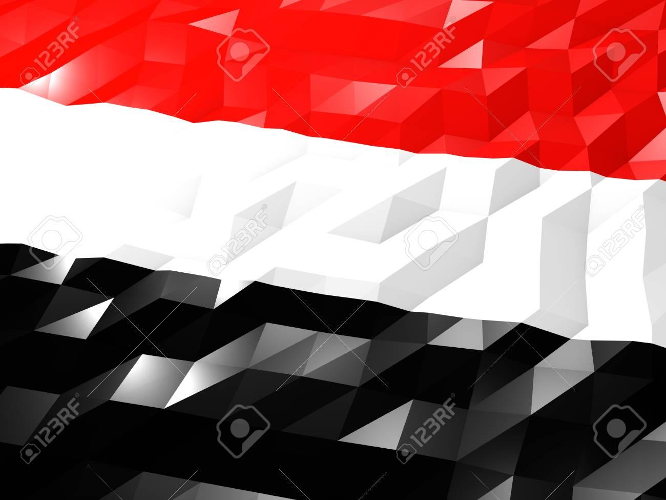 Flag Of Yemen 3D Wallpaper Illustration National Symbol Low 1300x975