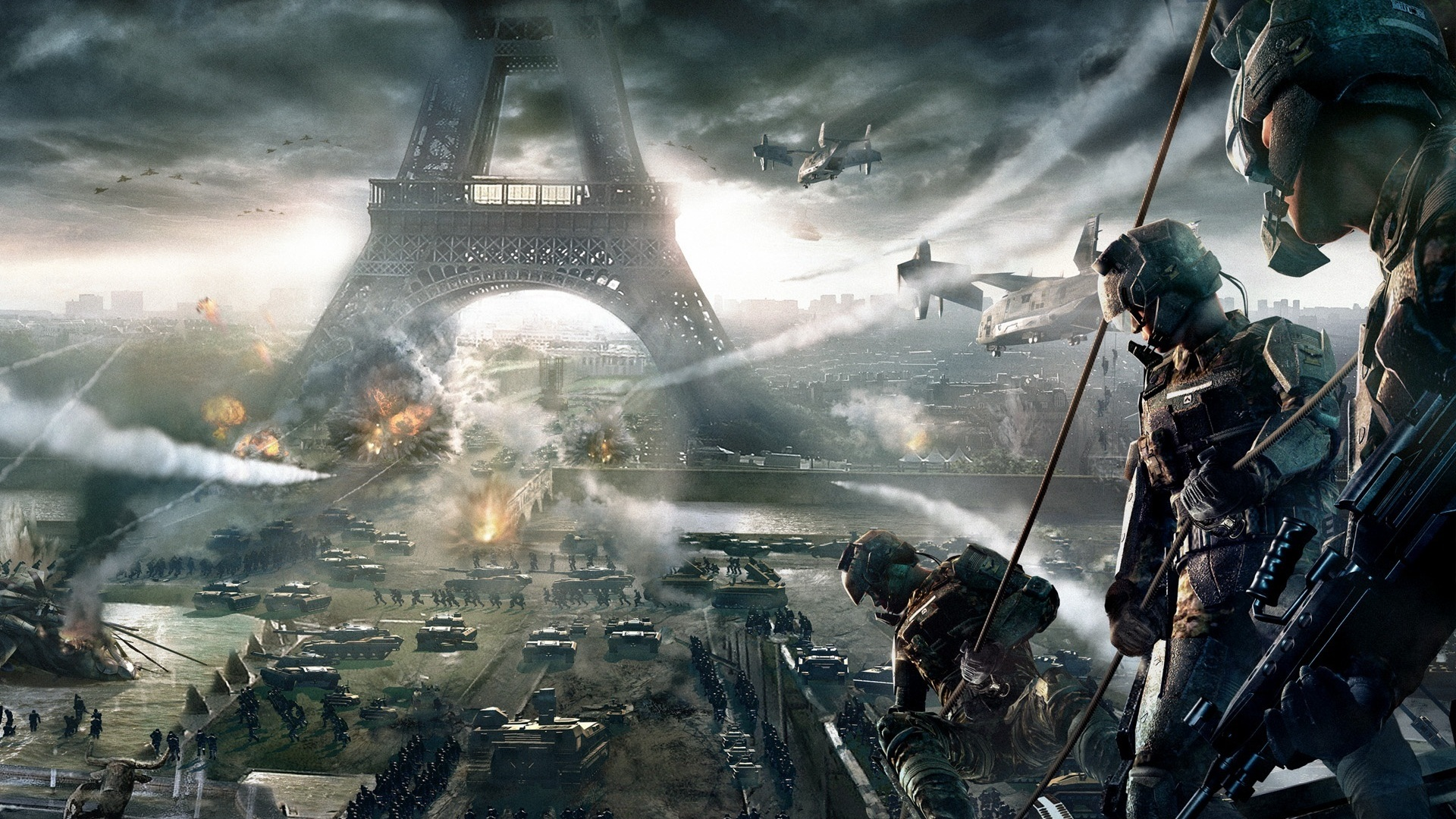 Wallpaper Tom Clancys Endwar at Paris 1920x1200 HD Picture Image 1920x1080