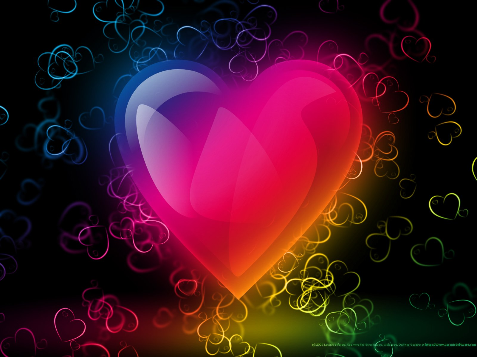 Love Wallpaper For Blackberry curve : colorful Hearts Wallpaper - WallpaperSafari