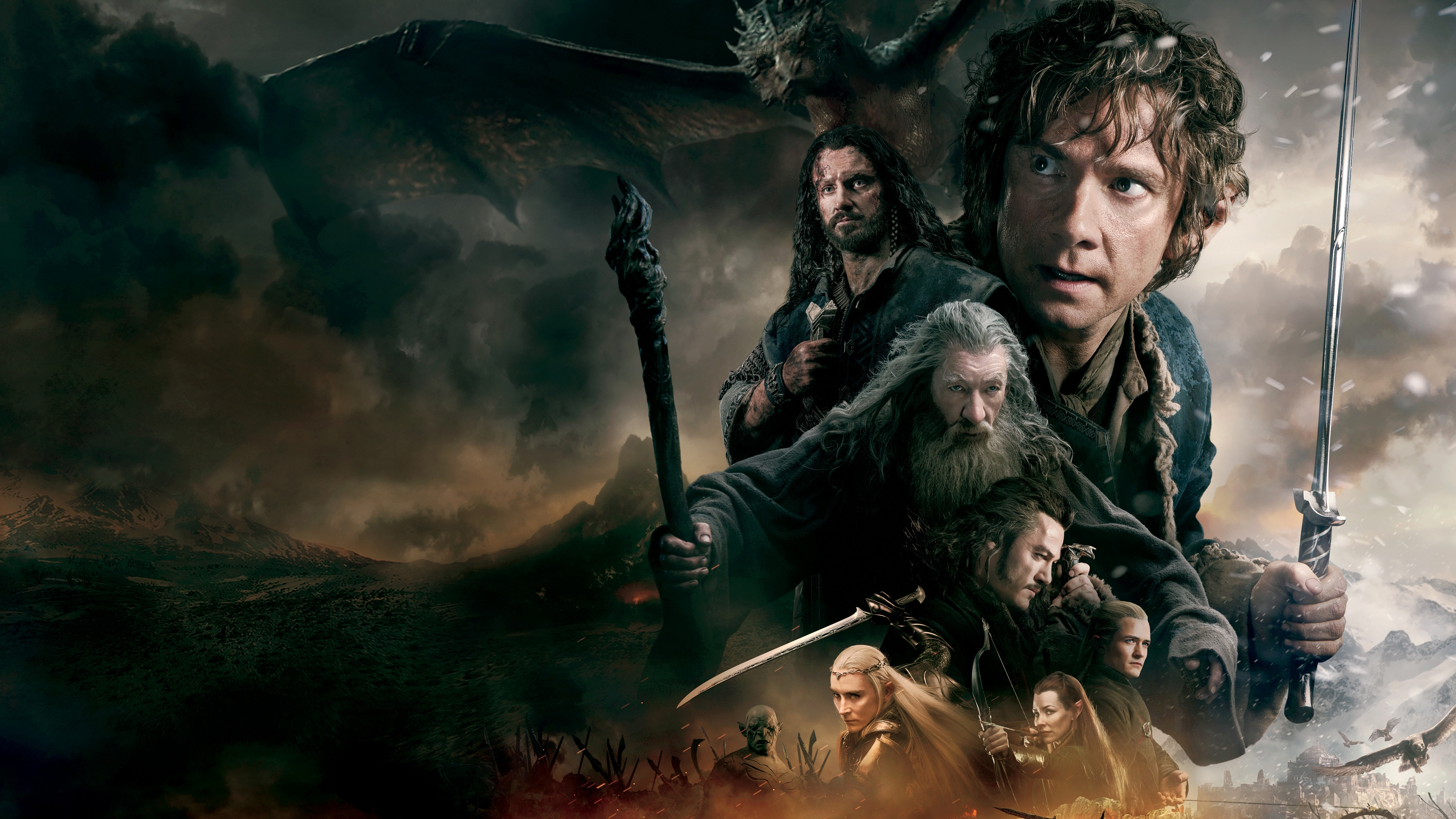 The Hobbit The Battle of the Five Armies 2014 3840x2160