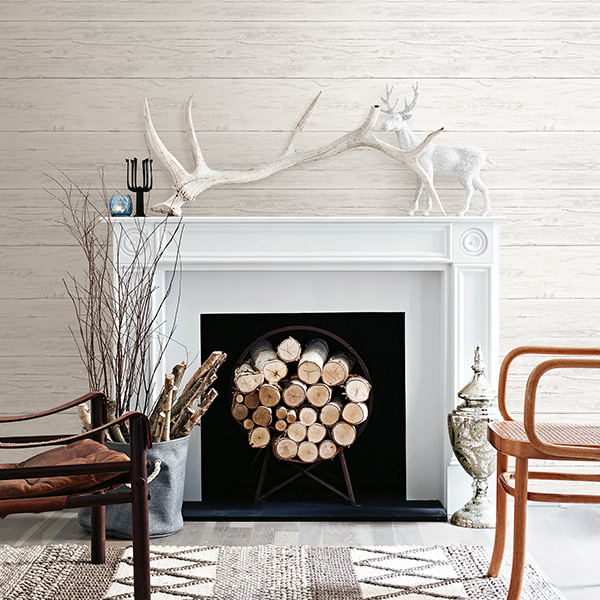 Shiplap Cream White Washed Boards   Wallpaper by A   Streets Prints 600x600