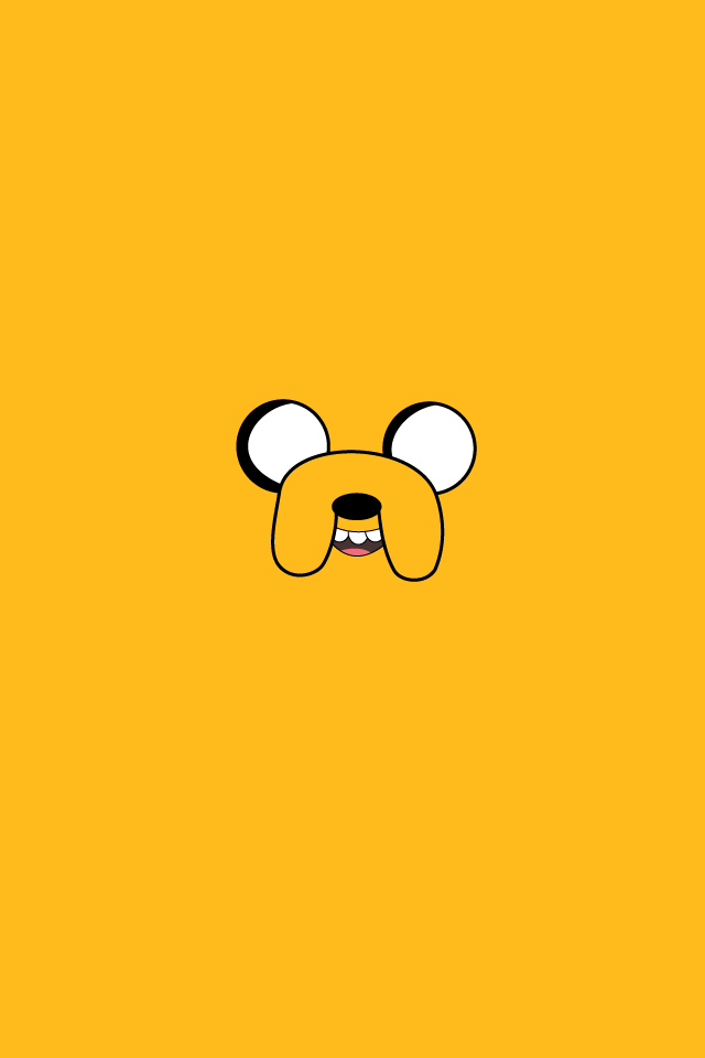 My minimalistic Jake wallpaper [OC] adventuretime 640x960