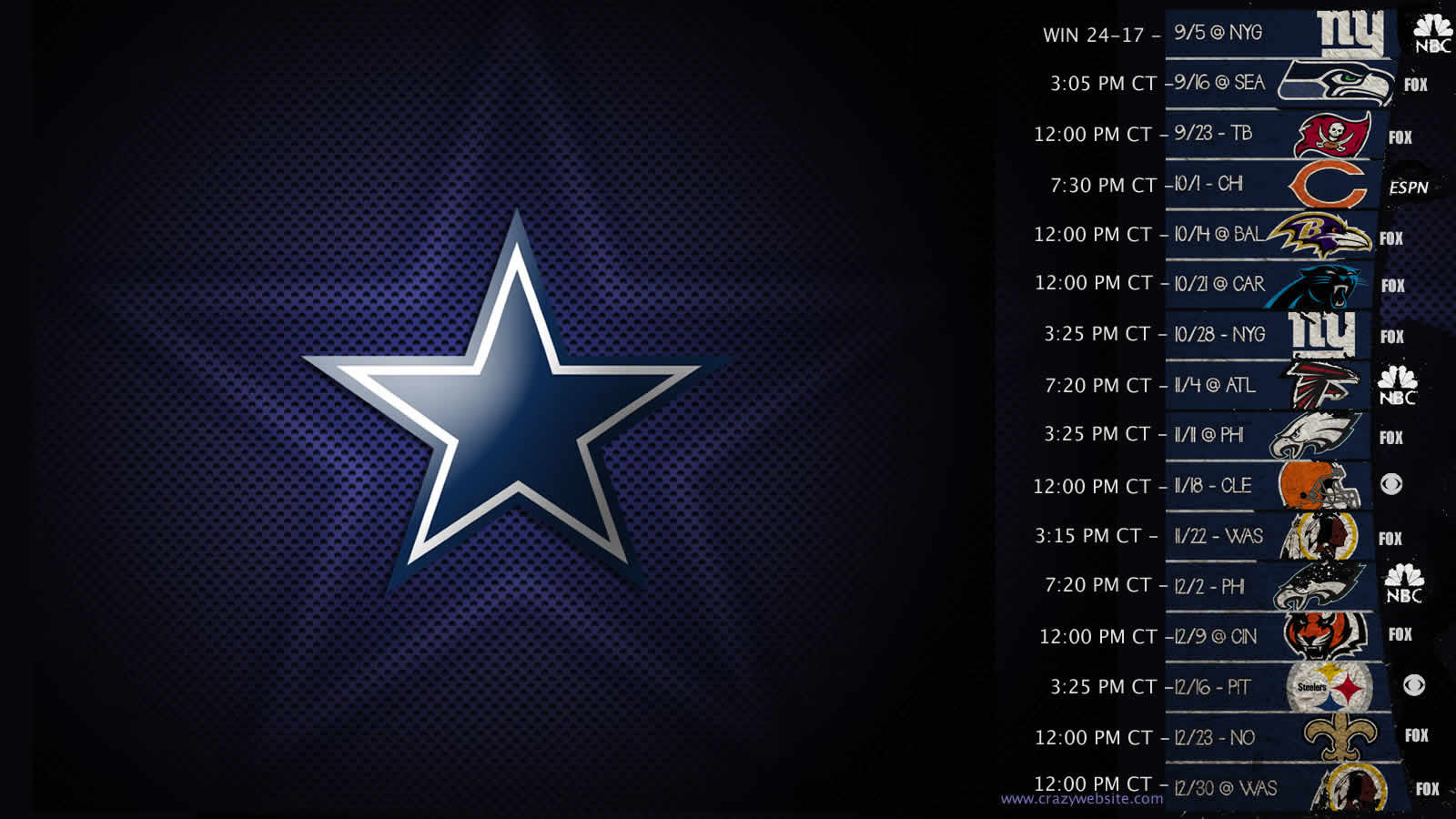 Dallas Cowboys Schedule If you like dallas cowboys 1600x900