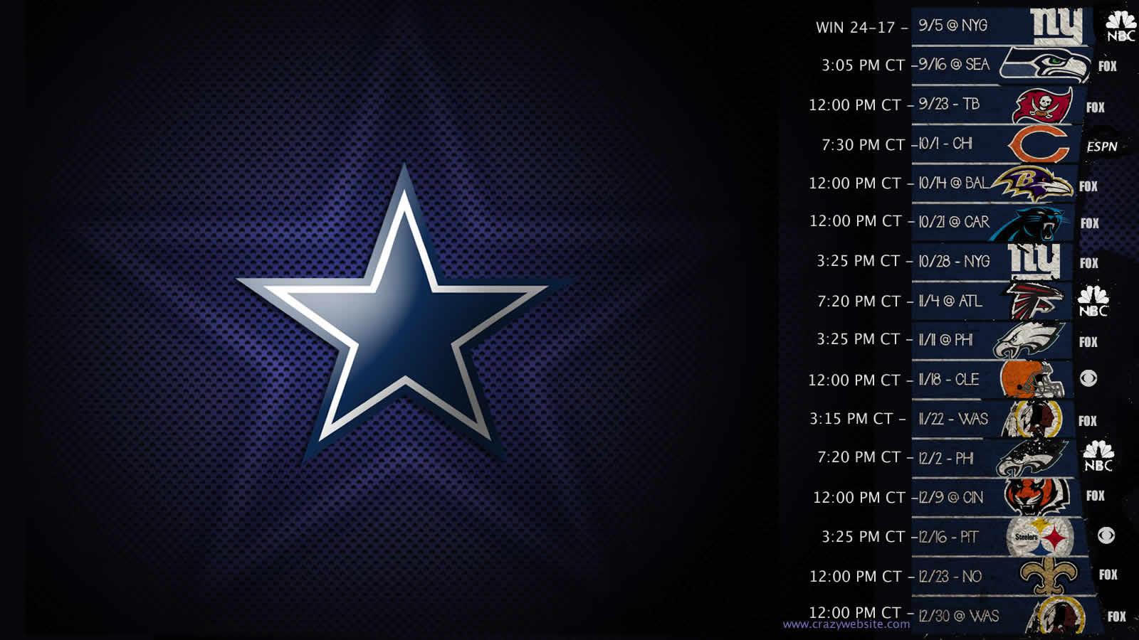 Dallas Cowboys Schedule If you like dallas cowboys 1600x900