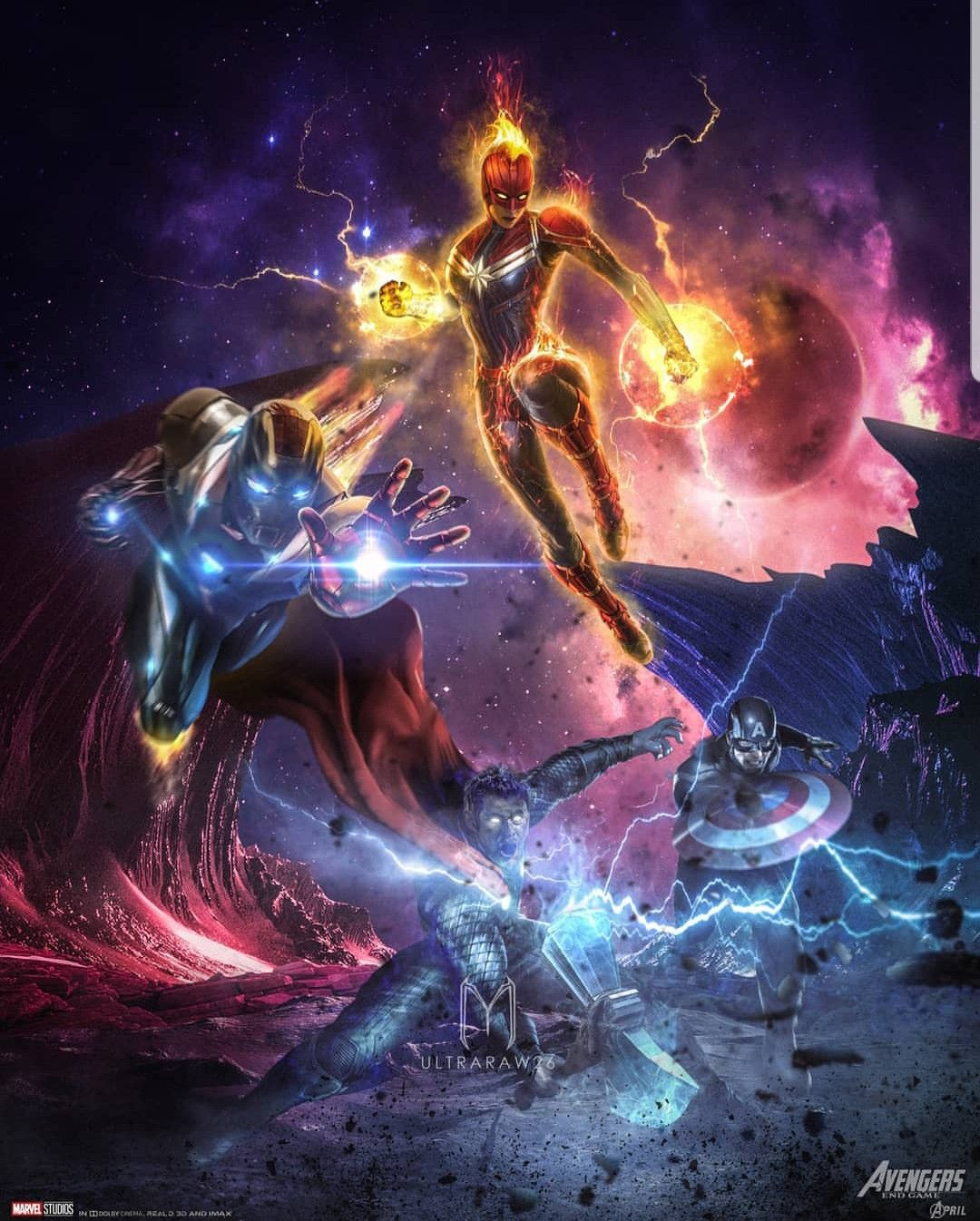 Captain America Captain Marvel Iron Man Thorvs Thanos 1080x1346