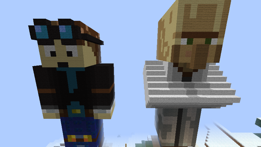 Minecraft Statue Builds DanTDM and Dr Trayaurus by Luke Harrison 854x480