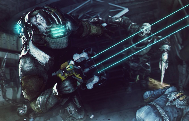 Wallpaper battle fight Isaac Clarke nekromorf isaac clark 1332x850