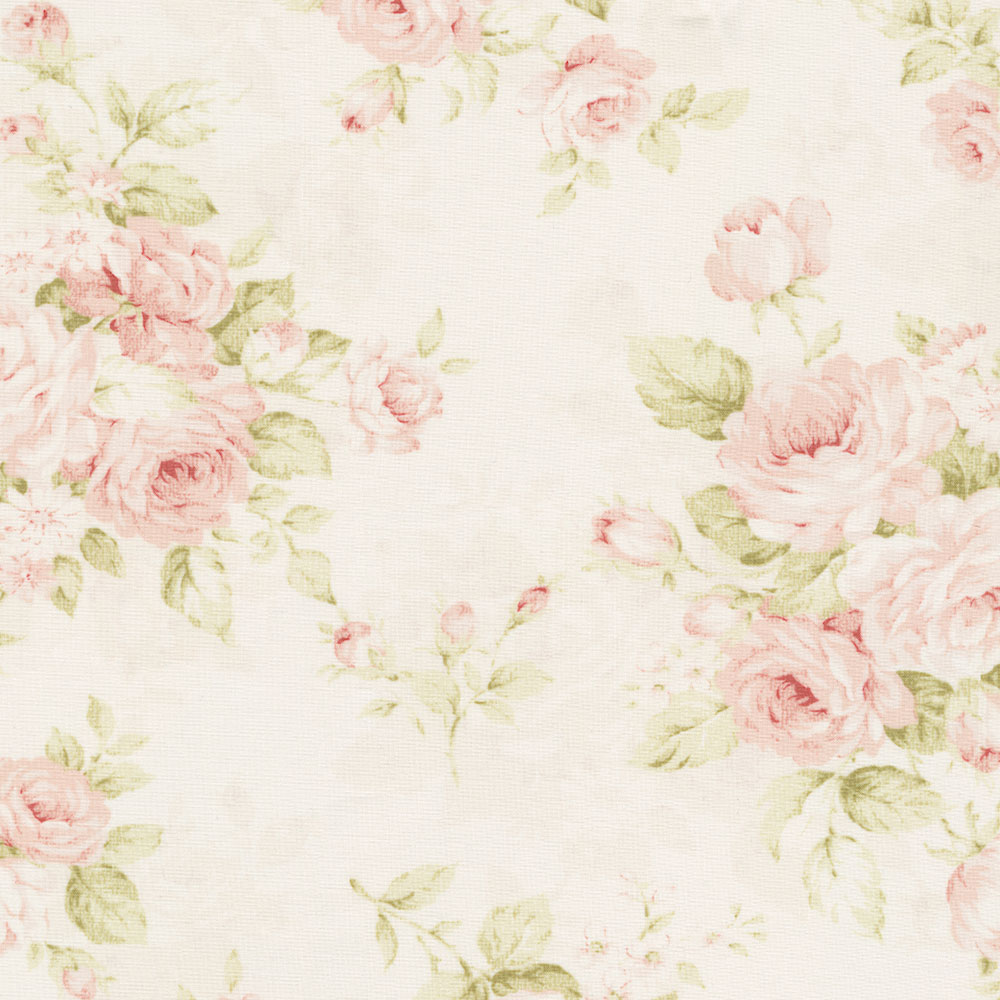 Pink Floral Fabric by the Yard Pink Fabric Carousel Designs 1000x1000