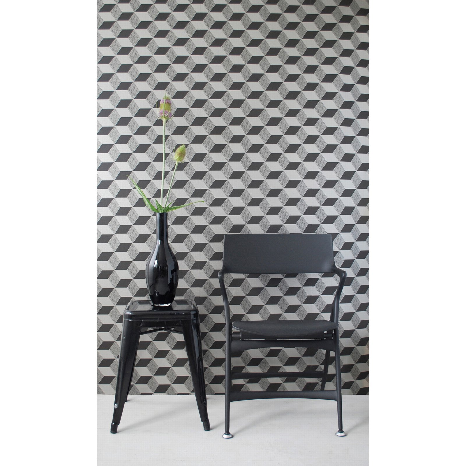 Squares Wallpaper   BlackBronze   Wallpaper at Hayneedle 1600x1600