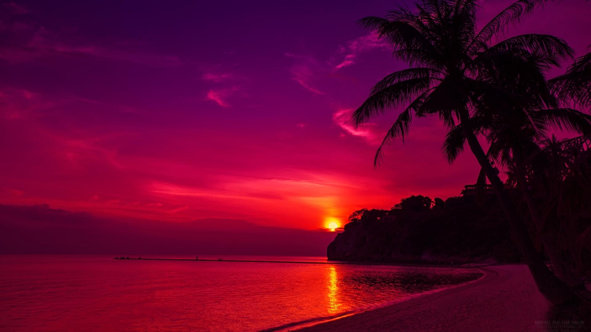 Thailand Beach Sunset Wallpapers HD Wallpapers 1920x1080