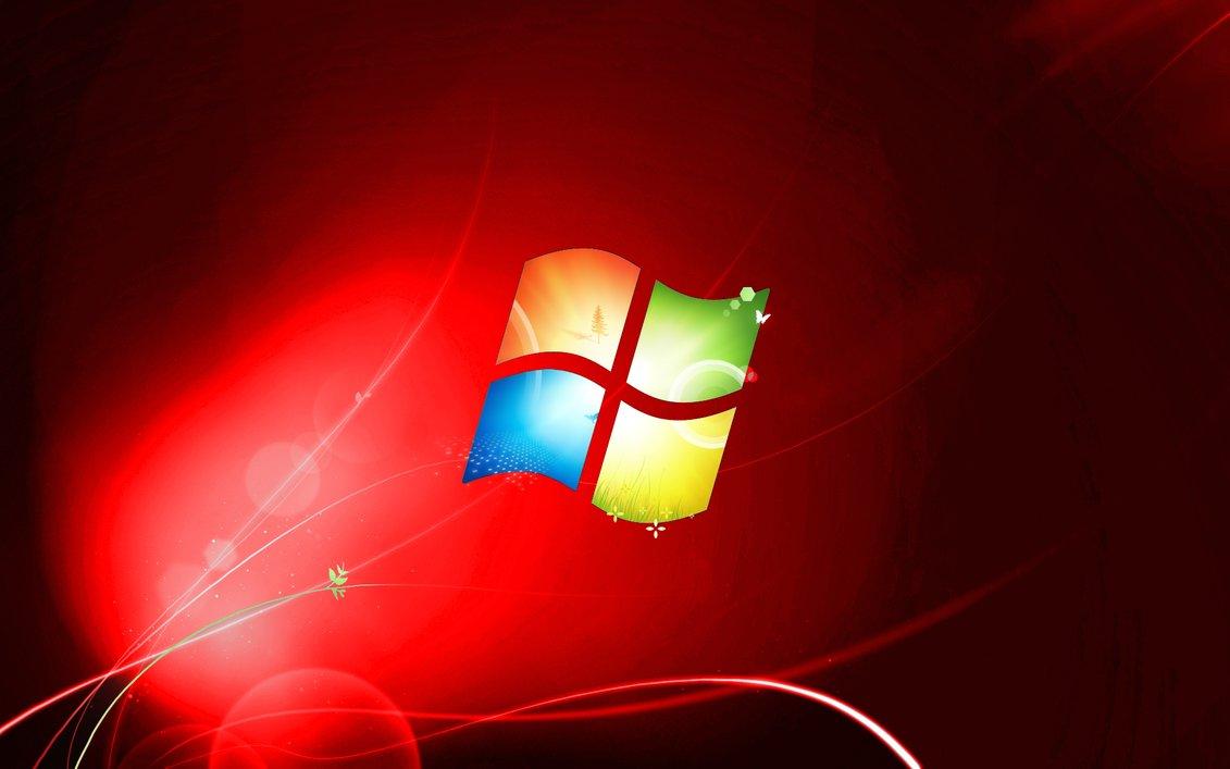 Red Windows 7 Wallpaper Wallpapersafari