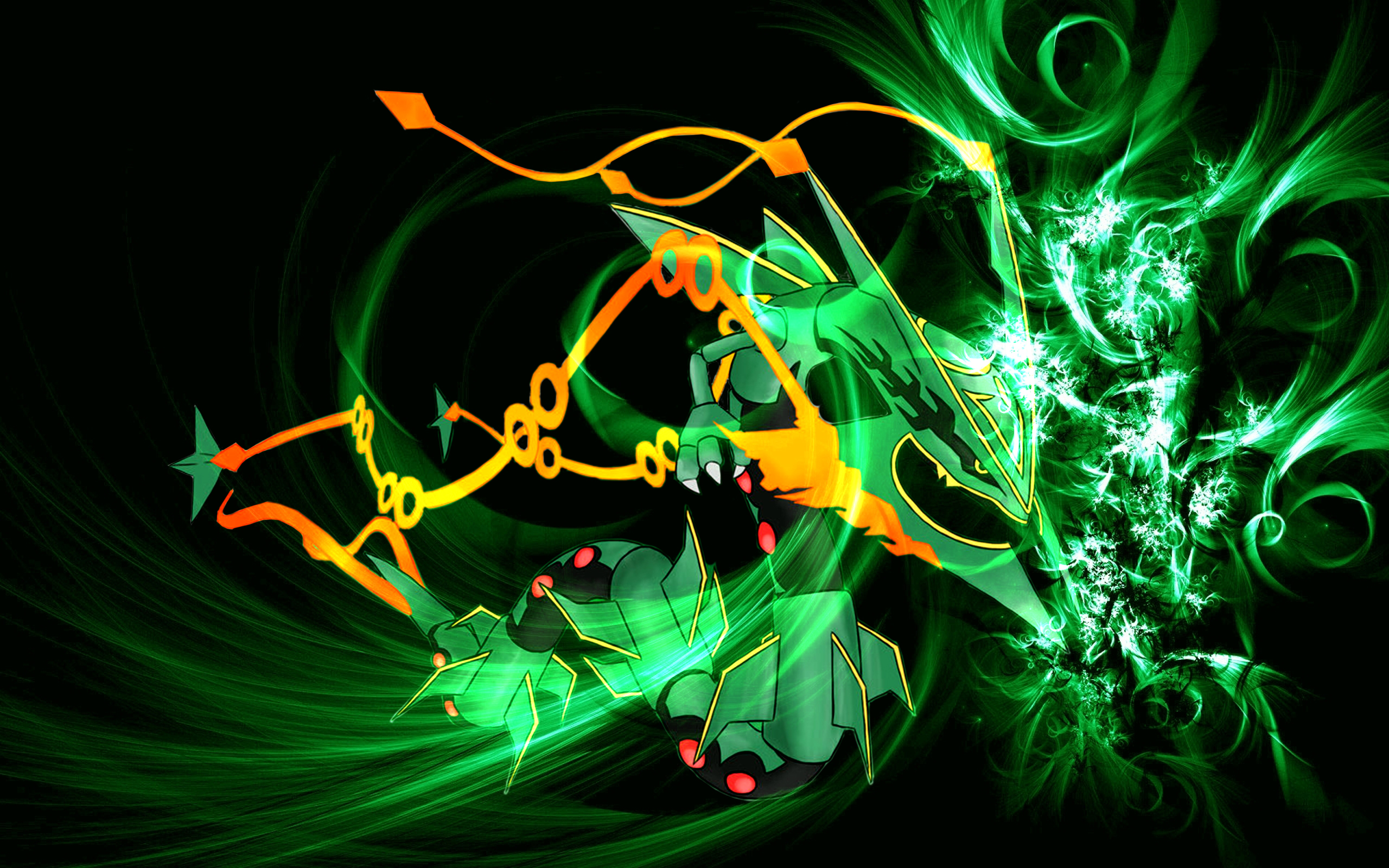 Mega rayquaza wallpaper wallpapersafari for Deviantart wallpaper