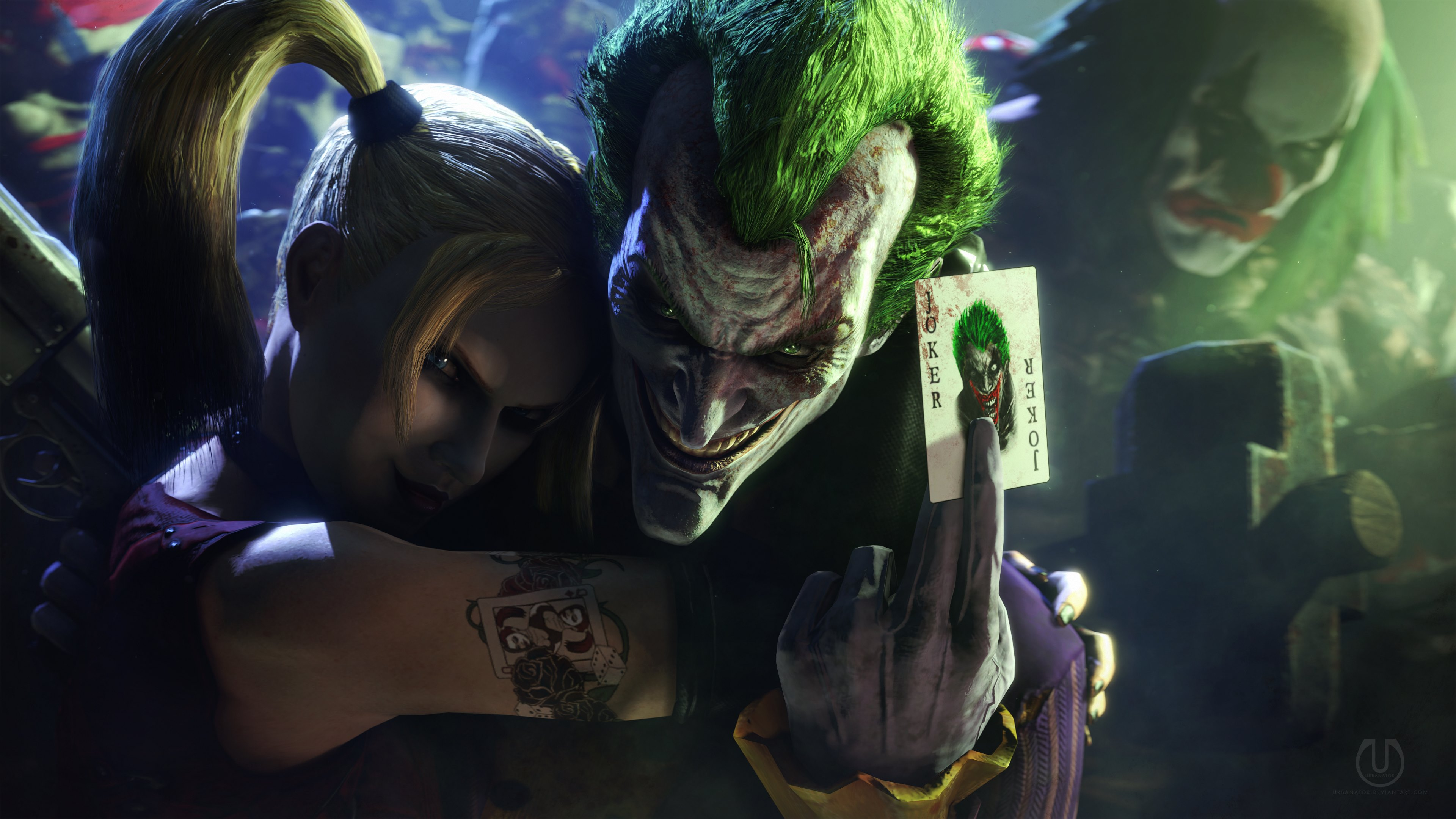 Joker and Harley Quinn Wallpapers HD Wallpapers 3840x2160