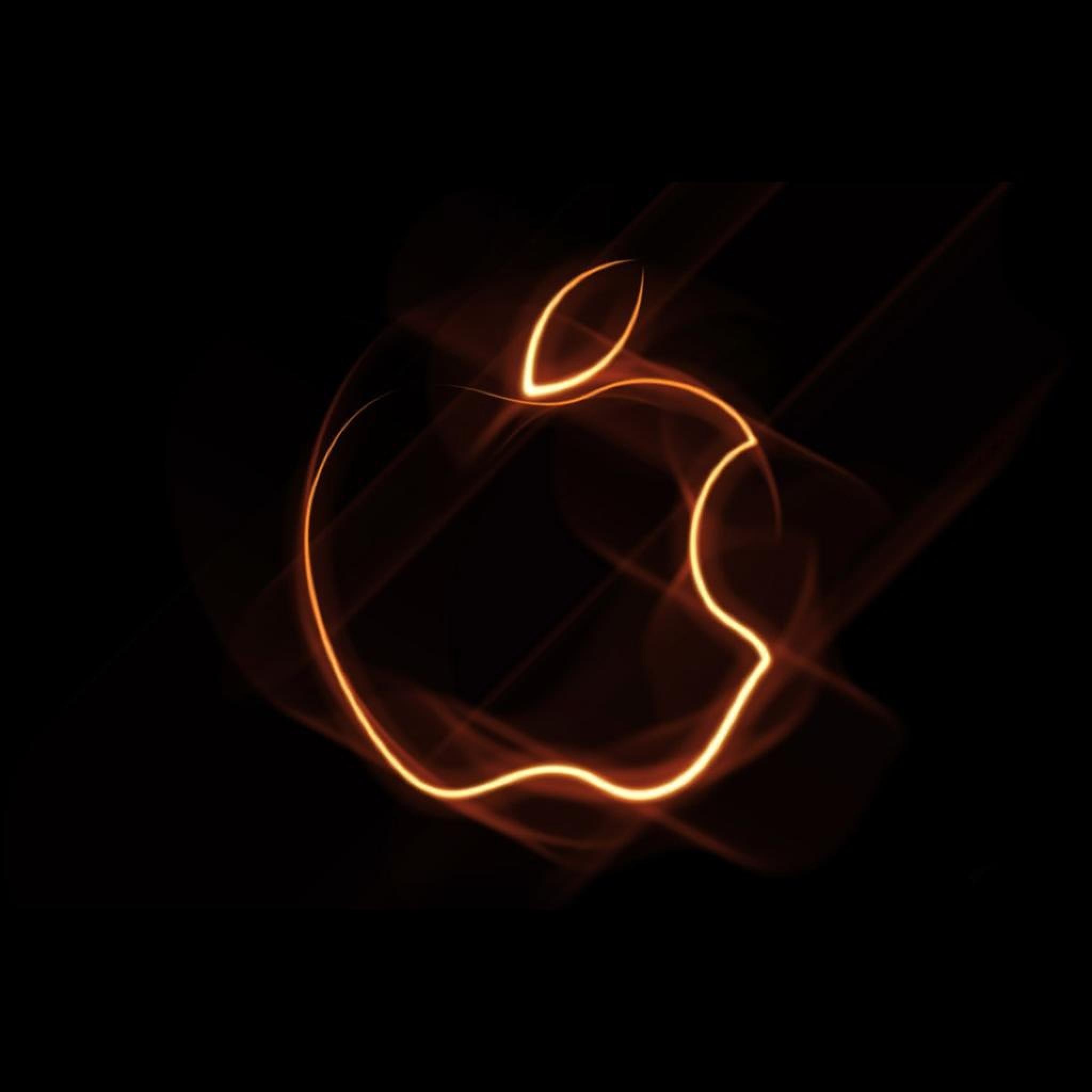 Computer Brand New iPad Genuine Glowing Apple Logo Wallpaper for iPad 2048x2048