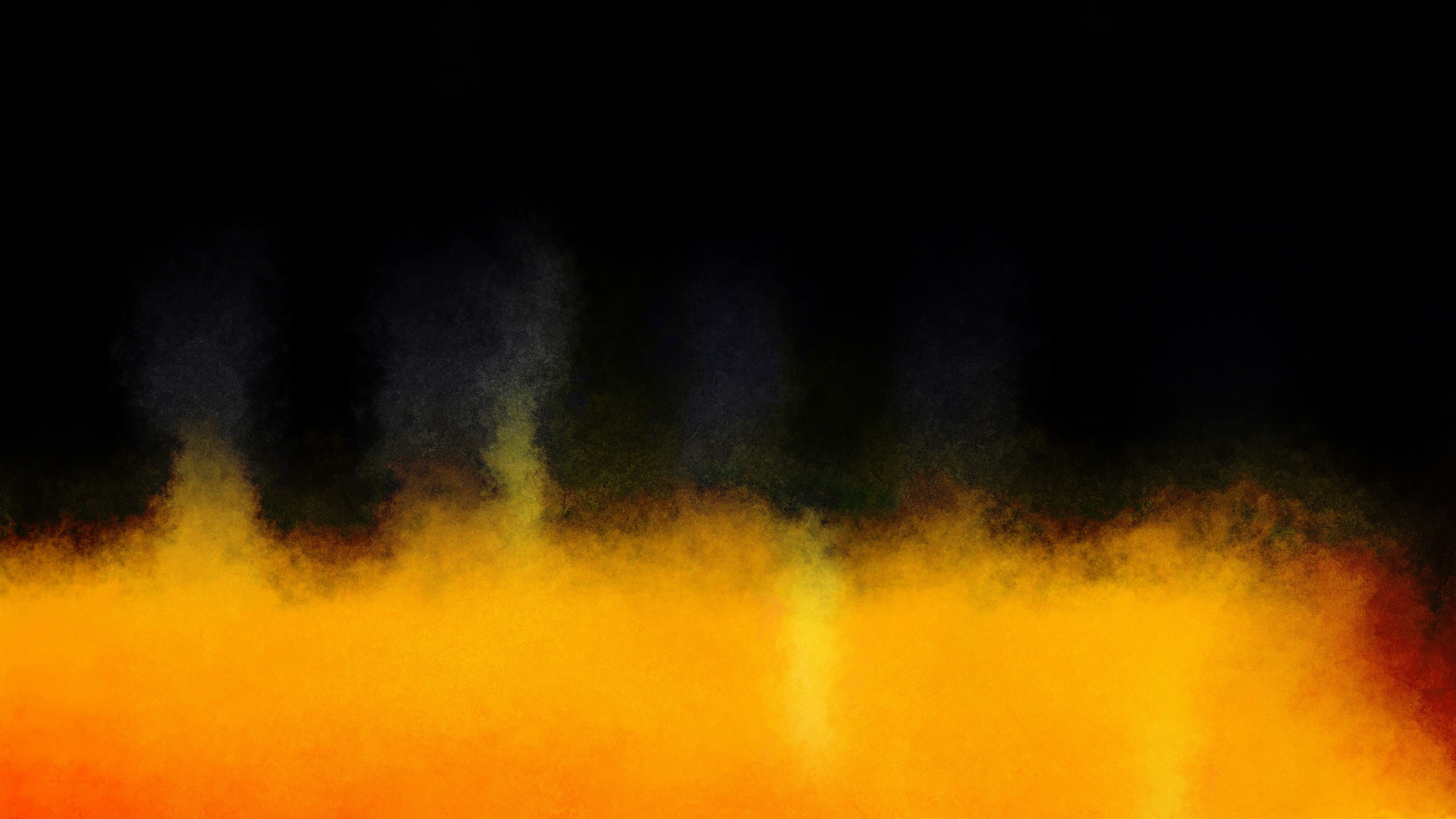 Cool Orange Watercolour Background 8000x4500