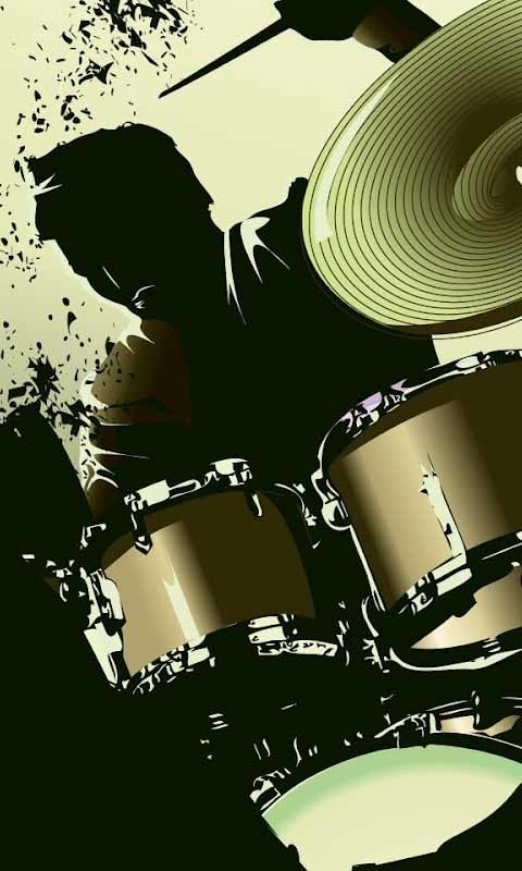 cool drum set wallpaper
