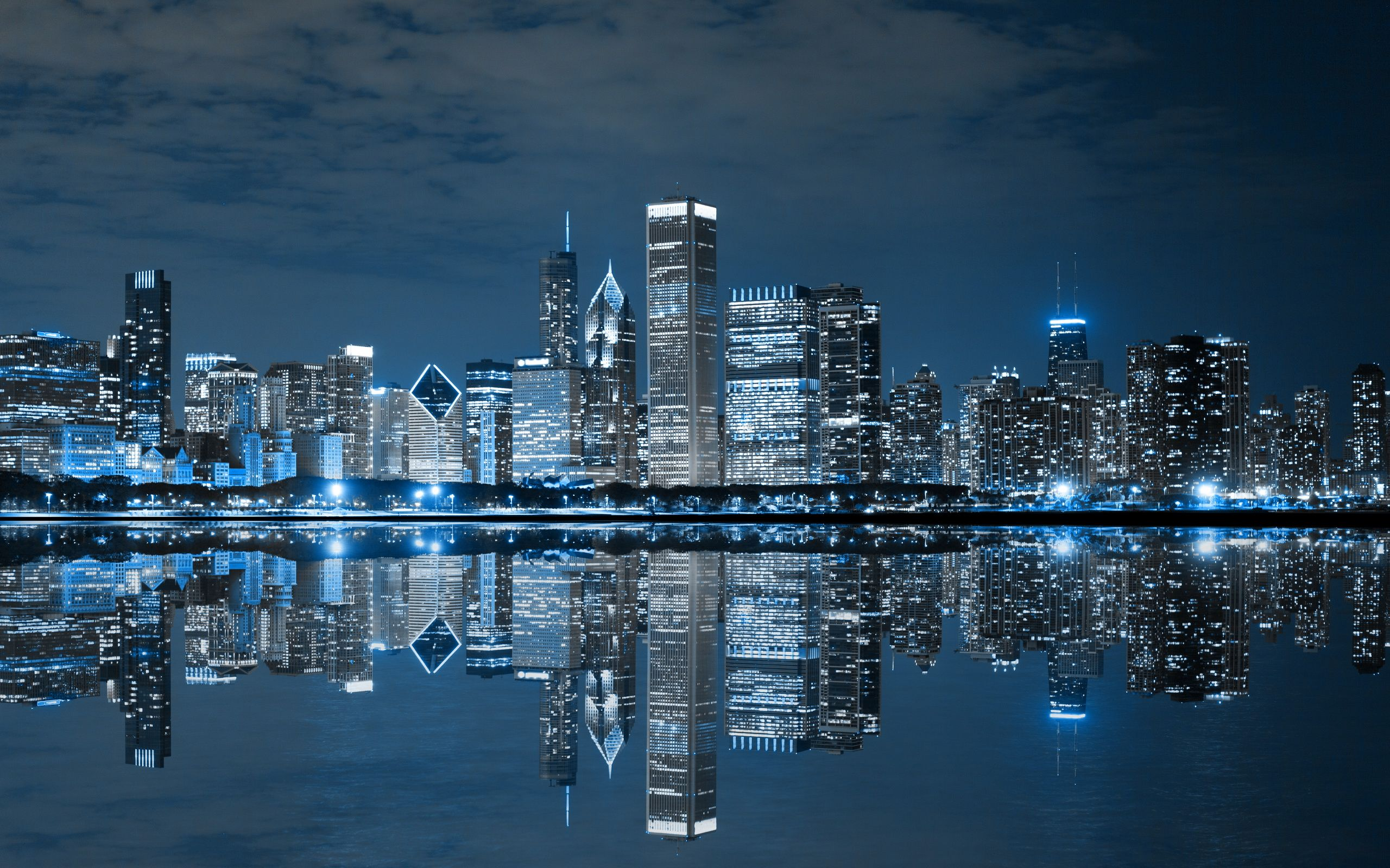 Chicago Skyline Wallpapers   Top Chicago Skyline Backgrounds 2560x1600