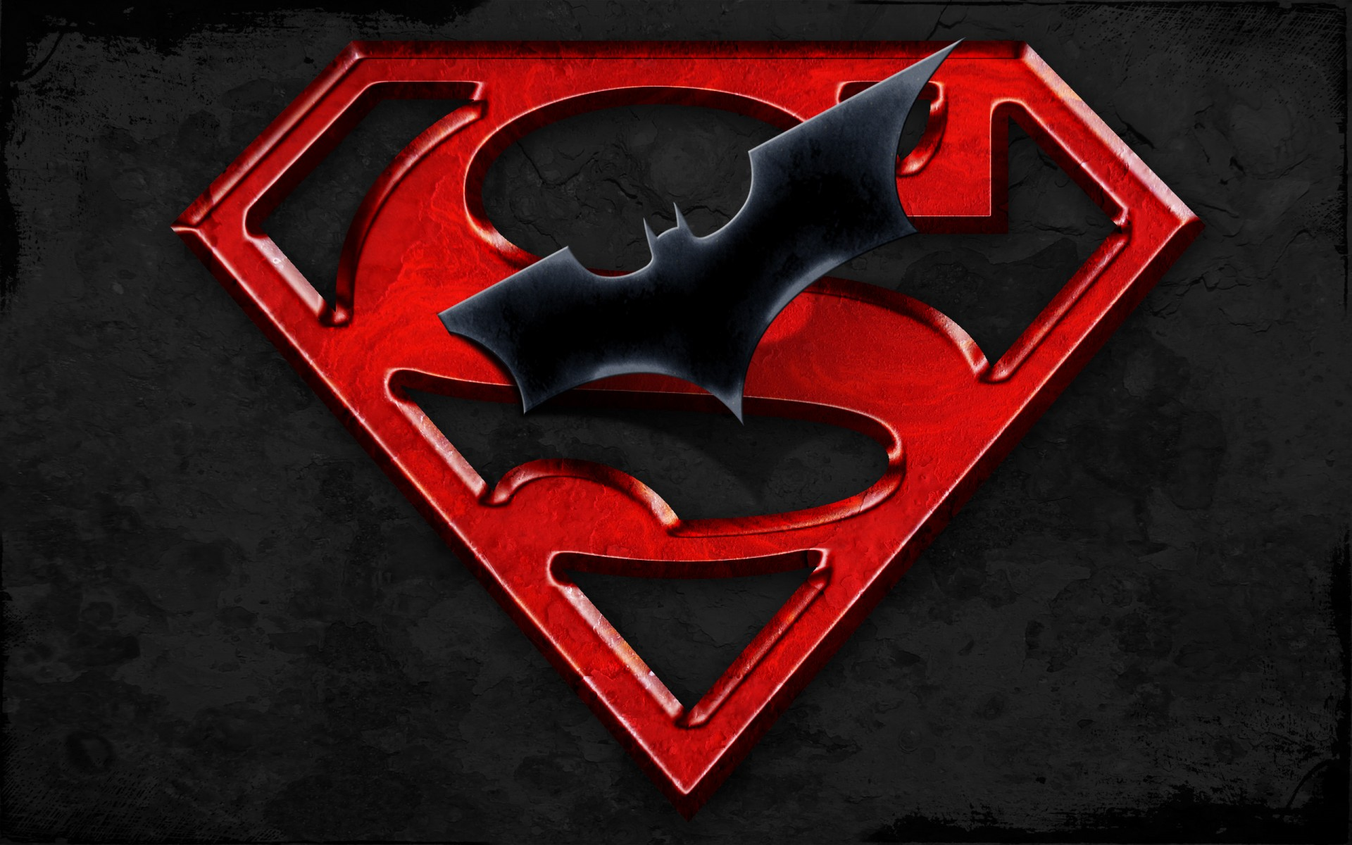 Superman Batman Logo HD Wallpaper 1920x1200