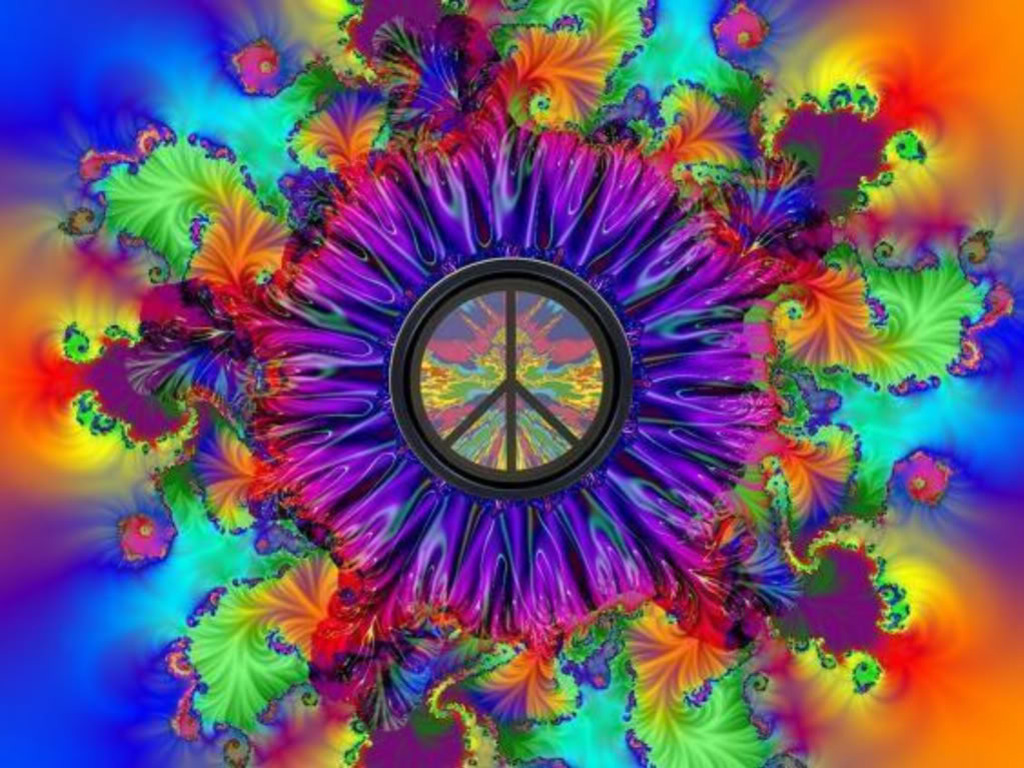 Peace Love Psychedelic Backgrounds HD wallpaper background 1024x768