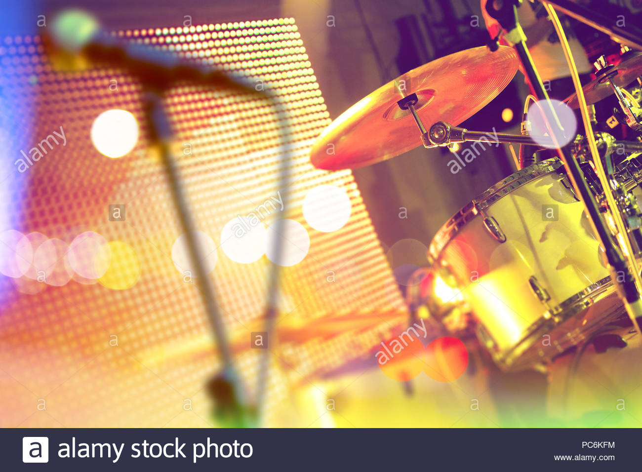 Live music background Drumset on stage Concert and show 1300x956