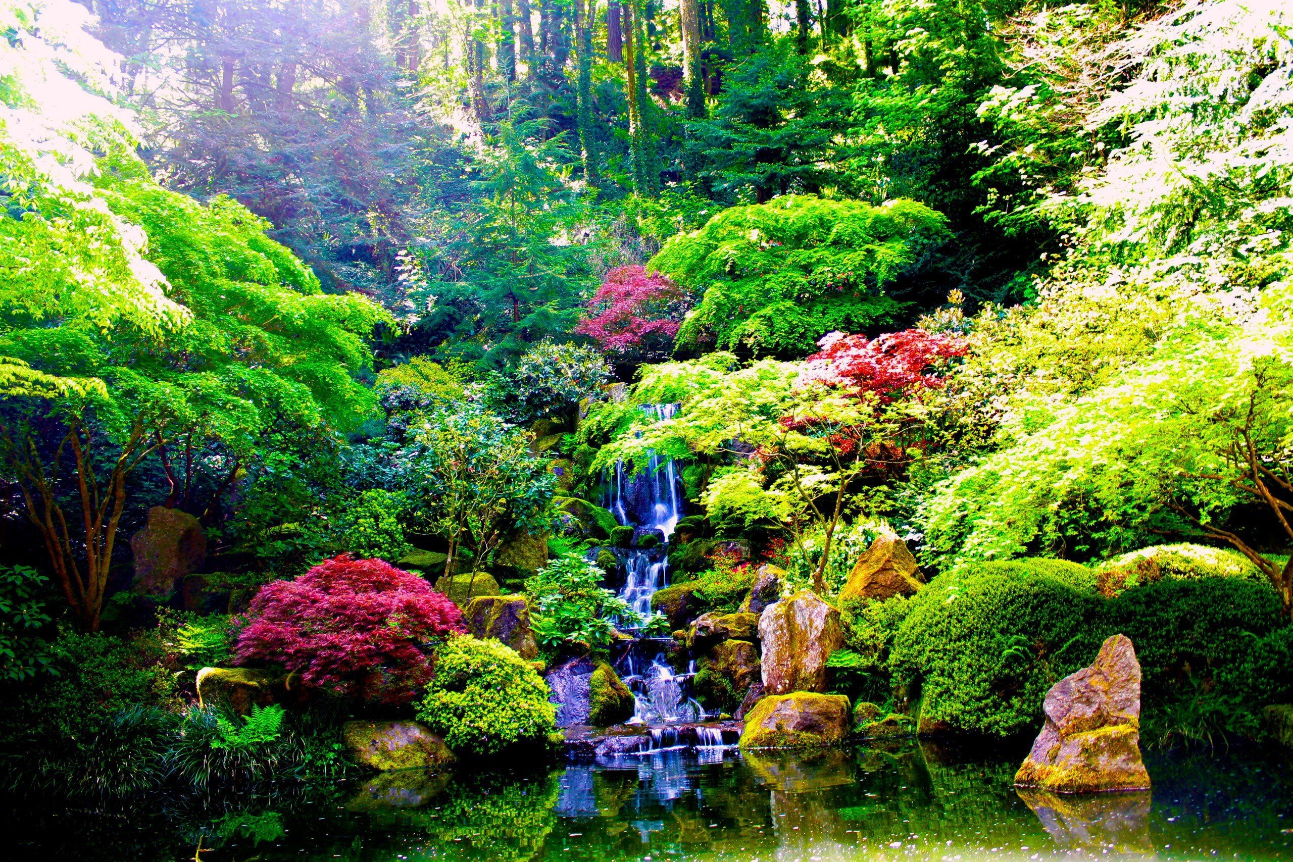 Zen garden wallpaper wallpapersafari for Zen garden waterfall
