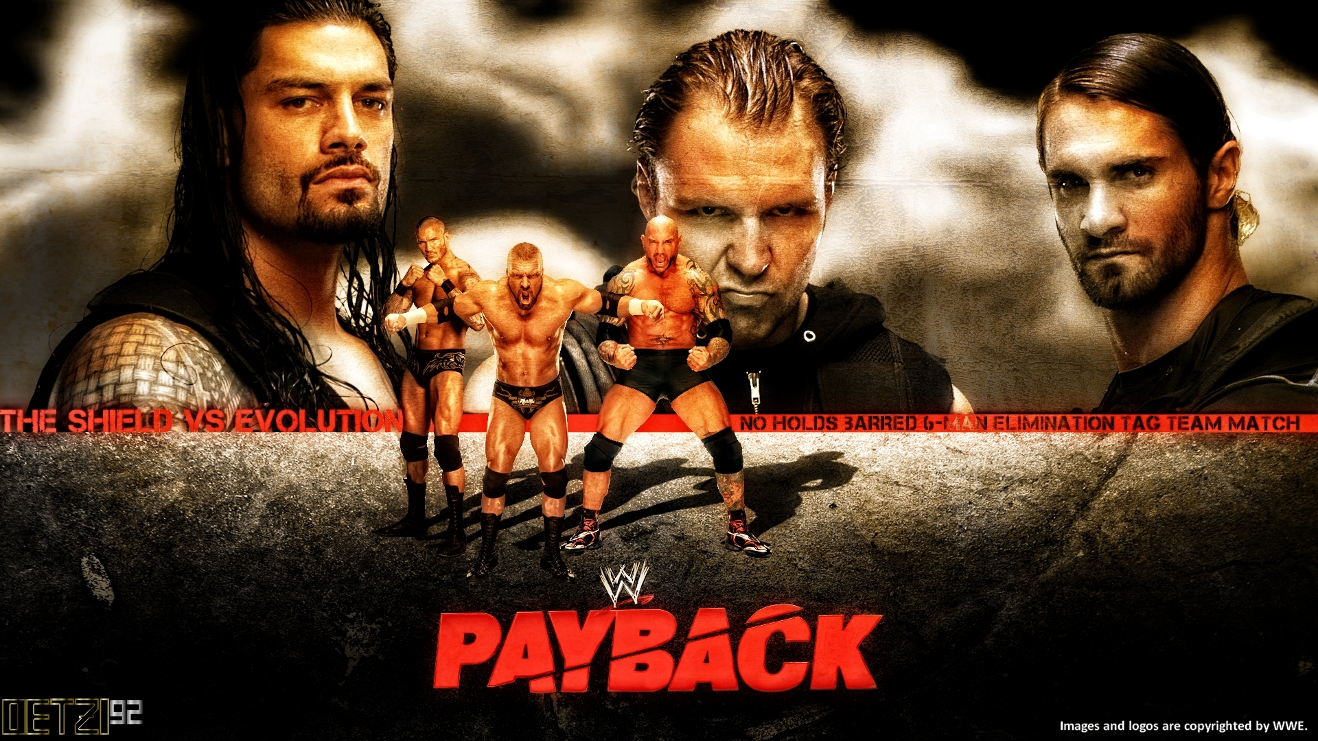 5 Thoughts WWE Payback 6114 Evolution vs The Shield John Cena 1920x1080