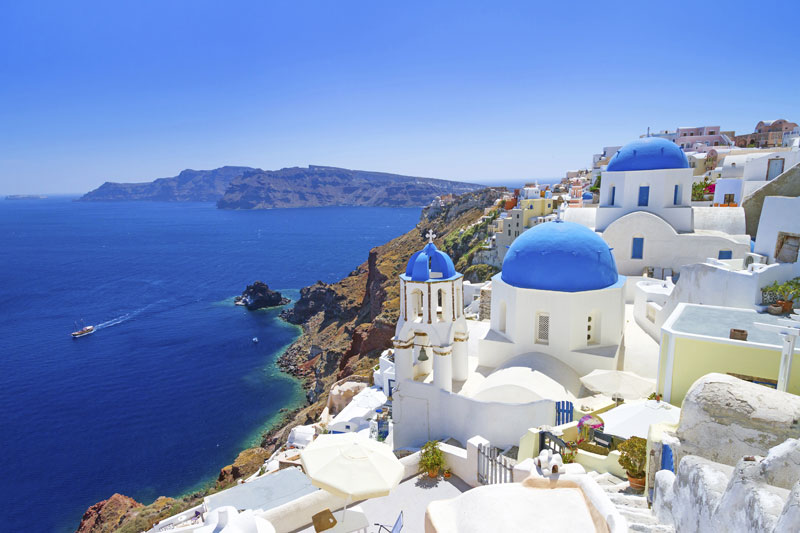 Azure Blue of Santorini Wallpaper Wall Murals 800x533